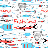 Graphic design elements for fishing