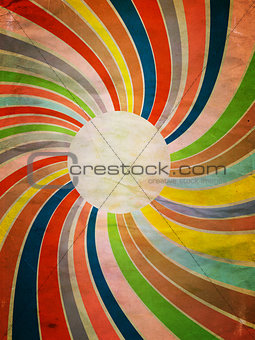 Grunge Colorful Rays Background