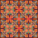 Square flower pattern symmetrical