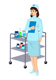 Vector illustration of a nurse