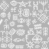 Ancient symbols set seamless