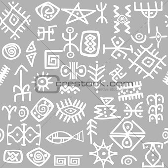 Ancient symbols set seamless