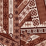 Ethnic ornaments patches background