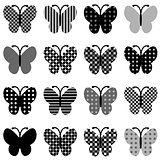 Patterned butterflies set