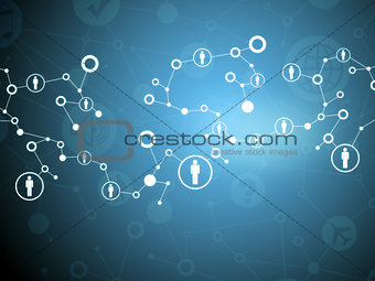 Abstract background with computer icons