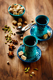 Tea or Hot Wine with Various Spices