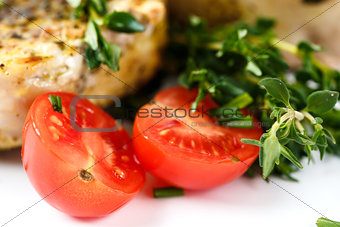 Food Background with Fresh Vegetables