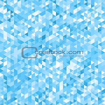 Blue mosaic background - seamless.