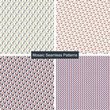 Mosaic colorful seamless patterns.