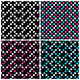 Set of colorful vector patterns with dots.
