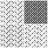 Set of  seamless patterns with dots.