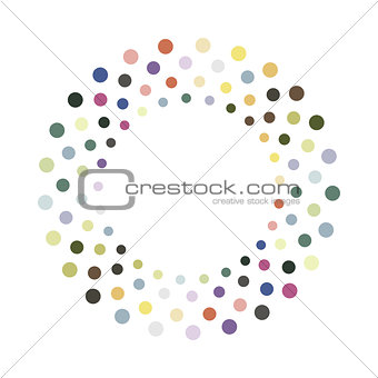 Abstract colorful circle.Vector design element