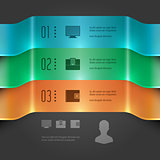 Business Infographics Design Template. Vector Elements. 3D Banners Chart Illustration