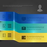Business Infographics Design Template. Vector Elements. 3D Banners Diagram Illustration