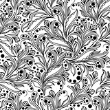 Seamless pattern with herbal elements