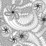 Seamless pattern with floral elements