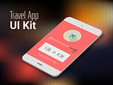 Travel mobile app UI smartphone mockup