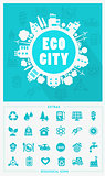 Cartoon Eco City concept