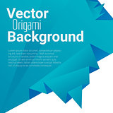 Origami polygonal abstract background
