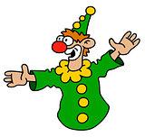 Funny green goof