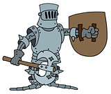 Funny knight in the armour