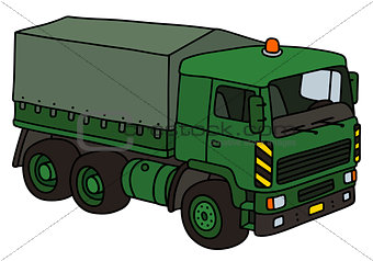 Green military truck