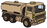 Sand military tank truck