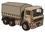 Sand military truck