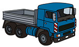 Blue lorry truck