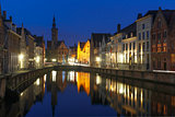 Jan Van Eyck Square and Canal Spiegel in Bruges
