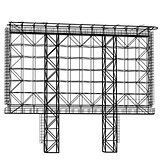 Silhouette of Steel structure billboard. Vector  illustration