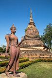 Walking Buddha Copper statue