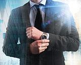 Successful and elegant businessman