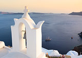 Bell tower in Oia, Santorini island, Greece.