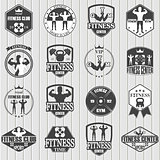 Fitness gym icons
