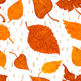 Vector seamless background autumn foliage