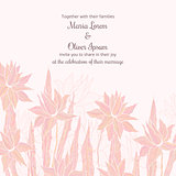 Wedding invitation template with sttylish flowers