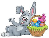 Basket with eggs and Easter bunny 2