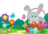 Easter basket with bunny theme 2