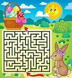 Maze 3 with Easter bunny and egg basket