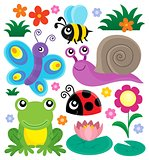 Spring animals and insect theme set 1