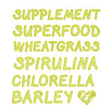 Green superfood background.