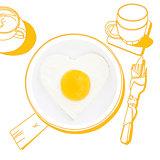 Delicious breakfast.
