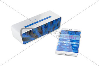 Smartphone and portable speaker