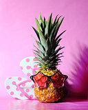 pineapple with flip flops