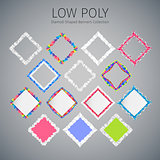 Low Poly Diamond-Shaped Banners Set