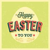 Happy Easter typographic design.
