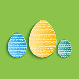 Set of three Vector eggs.