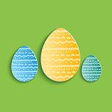 Set of three Vector eggs.