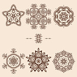 Brown Flower Pattern Pack